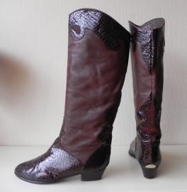 Brunella vintage lak croco laarzen (nr. 1354)