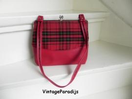 Schotse ruit vintage handtas (2230)