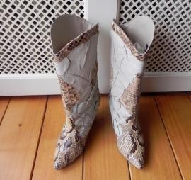 Isadora Python snake cowboy boots (1683)