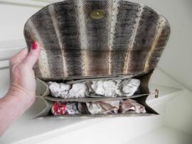 python snake clutch bag schoudertas + pumps (2518)