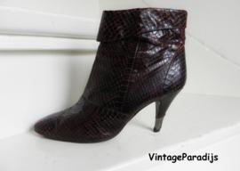 2416 Ramblas snake slangenleder high heels boots (2416)