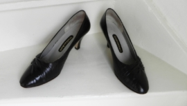 Weltschuh sexy vintage donkerbruine pumps (1946)