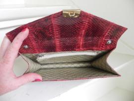 snake clutch schoudertas rood (2515)