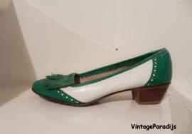 burlesque loaferspumps groen/wit (2649)