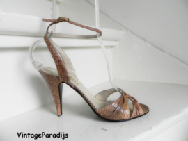 Freds shoes snake peeptoe pumps sandalette (2423)