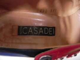 Casadei kinky rood zilver pumps (2655)