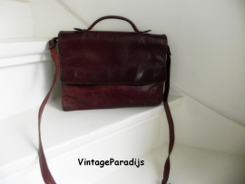 Creation Gabrielle vintage saddlebag schoudertas (2229)