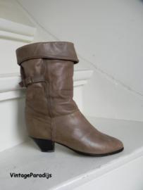 Stoere taupe cowboy laarzen omslag (2664)