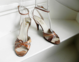 Freds shoes snake peeptoe pumps sandalette (2423)