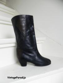 Retro cowboylaarzen taupe/zwart (2673)
