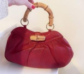 Vintage rode bijzondere handtas tas (1782)