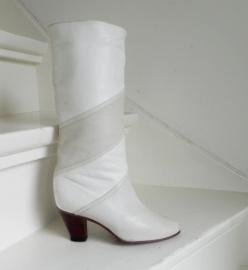 Hoge kalfsleren omslag laarzen boots
