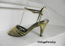 Salamander gouden peeptoe slingback pumps (2427)