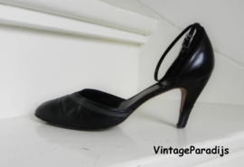 Vintage enkelband sexy high heels pumps (2383)
