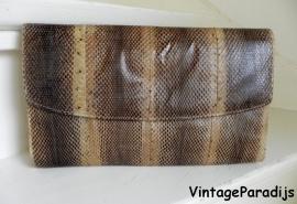 Python snake clutch tas (2185)