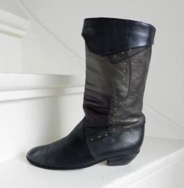 K&S Metallic hoge omslag laarzen studs boots western cowboy