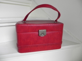Rode vintage beautycase bag (2103)
