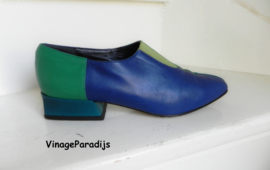 Revival vintage colourblock instappers pumps (2485)