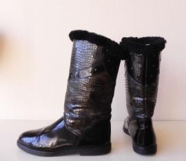 Vintage lak bont studs laarzen (nr. 1422)