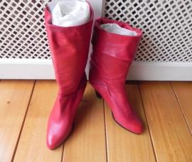 Brunella rode kalfsleren laarzen (nr. 1436)