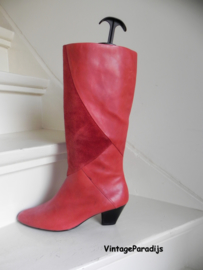 Vintage red cowboy boots (2527)