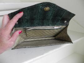Vintage snake clutch schoudertas (2517)