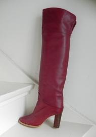 Overknee sexy rode vintage high heels laarzen boots
