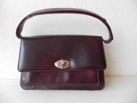Vintage rundleren handtas (nr. 1516)