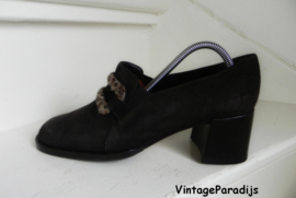 Caiman vintage luipaard pumps shoes (2322)