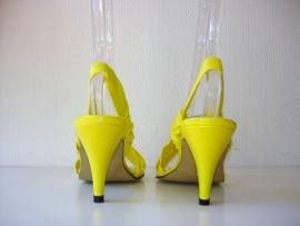 Gele slingback (nr. 0598)