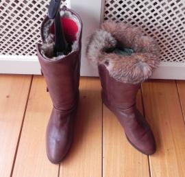 Il Masiero konijnenbont vintage laarzen (nr. 1344)