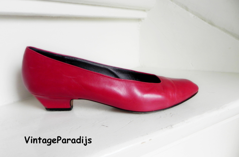 Manfield red basic pumps (2521)
