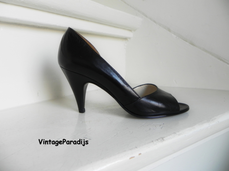 Gabor sexy peeptoe high heels pumps black (2534)