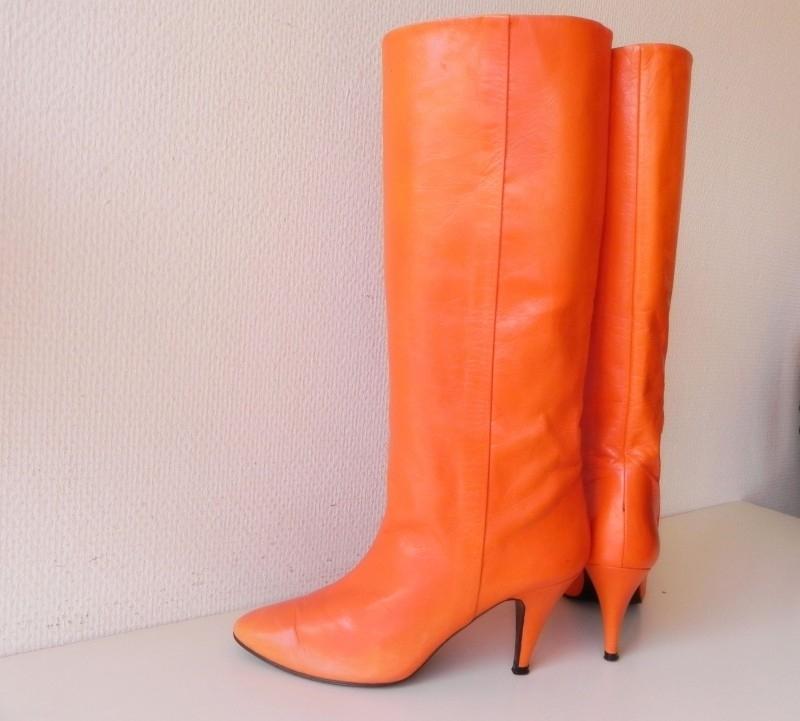 Waanzinnige Oranje vintage laarzen (nr. 1525)