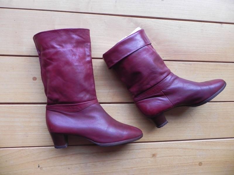 Salamander kalfsleren rode laarzen (nr. 1385)   Verkochte
