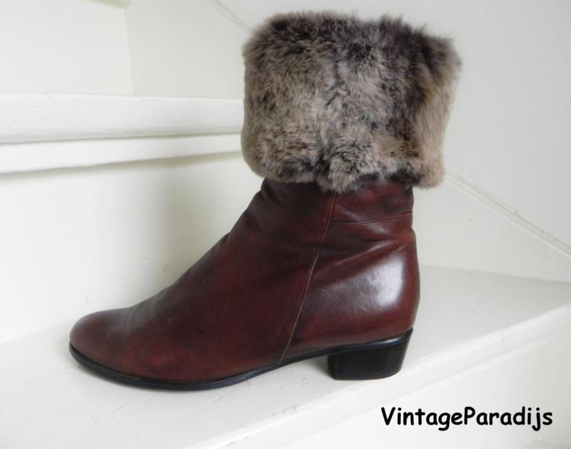 Everybody konijnenbont boots (2362)