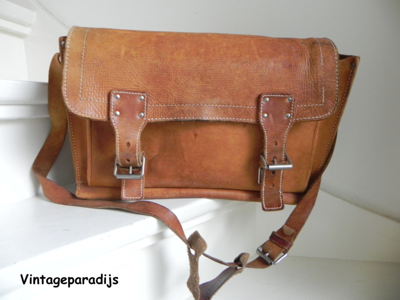 vintage saddletas schoudertas (2497)
