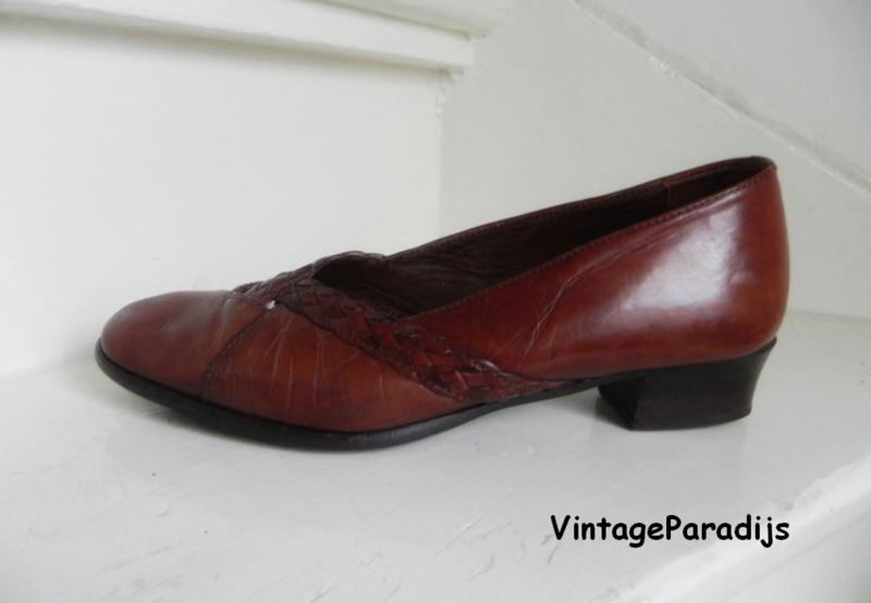 Prialpas cognac comfortabele pumps (2266)