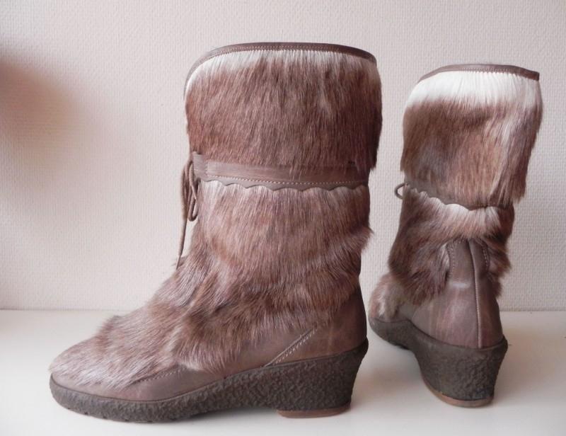 Sympatico lamsbont vintage laarzen (nr. 1356)