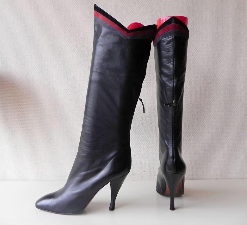 Prialpas hoge ritslaarzen croco lak (1882) | Vintage laarzen