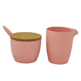 Dash & dulce - melk- en suikerset - roze - Zuperzozial