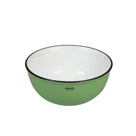 Kom - cereal bowl - emaille look - groen - Cabanaz