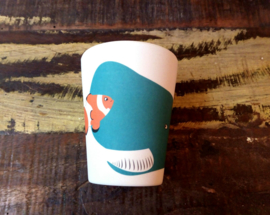 Hungry whale cup - kinderbeker - Zuperzozial