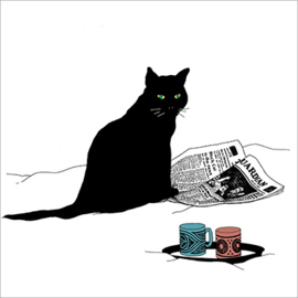 Servet - black cat journal - PPD