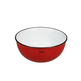 Kom - cereal bowl - emaille look - rood - Cabanaz