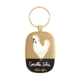 Sleutelhanger - cocotte jolie - Derriere la porte