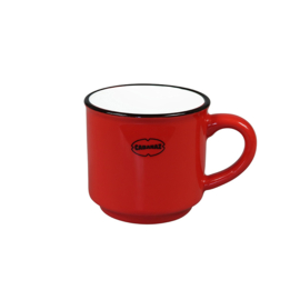 Espressomok emaille look - rood - Cabanaz