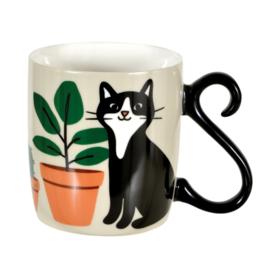 Mok - chat jardin - Derriere la porte