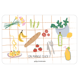 Placemat - on mange quoi - derriere la porte