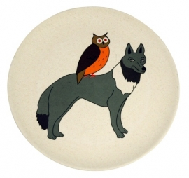 Hungry wolf plate - kinderbord - Zuperzozial